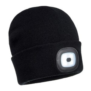 Portwest LED Head Light Beanie B029 Black