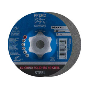 Pferd CC-Grind Solid SG Steel Grinding Disc 180mm