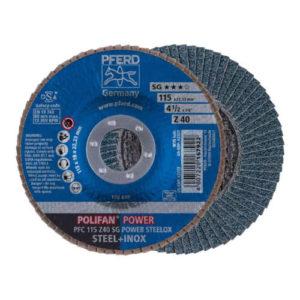 Pferd Z-SG Power Steelox Flap Disc 40 Grit, 115mm 67784115