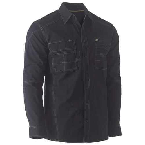 Bisley Flex & Move Work Shirt Long Sleeve 6144 Black