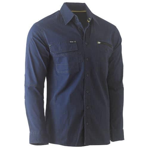 Bisley Flex & Move Work Shirt Long Sleeve 6144 Navy