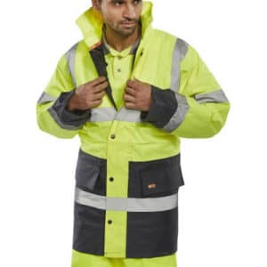 Hi Vis Two Tone Traffic Jacket