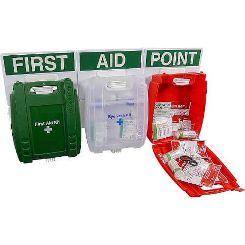 Evolution Safety First Aid, Eye Wash & Burns Kit Combo Kit FAP37