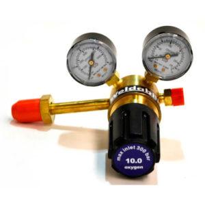 Oxygen Regulator w/Long Side Entry (Single Stage, 2 Gauge) AE3004LXSEEXT