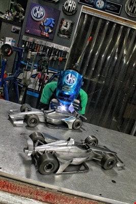 Miller Welding metal F1 race car welding project