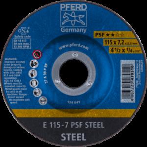 Pferd PSF Steel Grinding Disc 115mm x 7.0mm