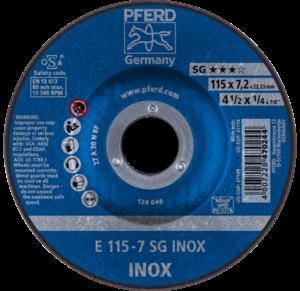 Pferd SG Inox Grinding Disc 115mm x 7.0mm 62211623
