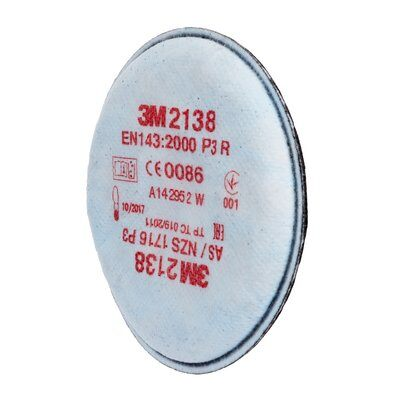 3M 2138 P3 R Particulate and Nuisance-Level Organic Vapour Filters (Pair)