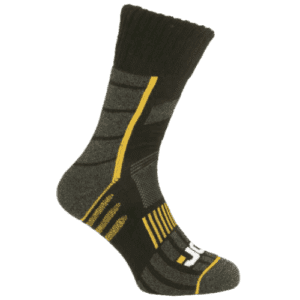 JCB PRO ANTI-BLISTER Work Socks (Size UK 6-8.5 and 9-12) Socks that protect against blisters while working