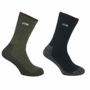 JCB THERMASOCKS Thermal Work Socks (Size UK 6-8.5 & 9-12) Extreme Thermal Work Socks perfect for winter