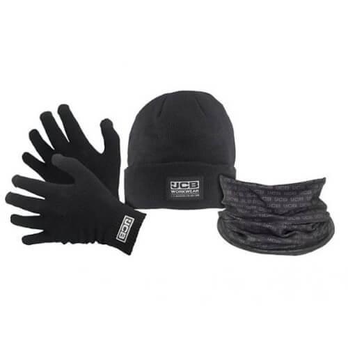 JCB Winter Set - Gloves, Beanie Hat and Snood