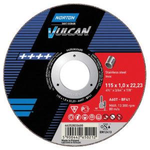 Norton VULCAN Ultra-Thin Cutting Discs 115mm x 1.0mm (50 pack)