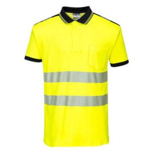 Portwest PW3 Hi-Vis Short-Sleeve Polo Shirt T180