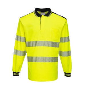 Portwest PW3 Hi-Vis Long-Sleeve Polo Shirt T184