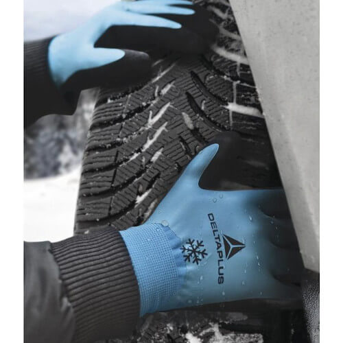 DeltaPlus Latex Coated Thermal Work Gloves (VV736) tyre