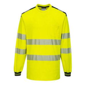 Portwest PW3 Hi-Vis Long-Sleeve T-Shirt T185 Yellow